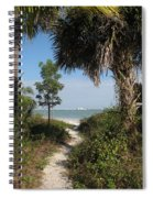 Hidden Path To The Beach Spiral Notebook