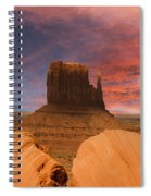 Hiding Behind The Rocks Spiral Notebook