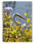 Hiding Egret Spiral Notebook