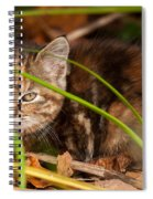 Hiding In The Grass Spiral Notebook