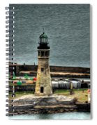 High Above The Lighthouse  Spiral Notebook