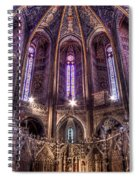 High Altar And Stained Glass Windows  Spiral Notebook