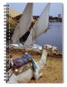 High Angle View Of A Camel Resting Spiral Notebook