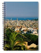 High Angle View Of A City, Barcelona Spiral Notebook