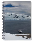 High Angle View Of A Harbor, Neko Spiral Notebook