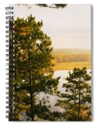 High Angle View Of A River, Ausable Spiral Notebook