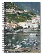 High Angle View Of A Town, Amalfi Spiral Notebook