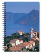 High Angle View Of A Town At The Coast Spiral Notebook