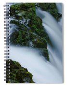 High Angle View Of A Waterfall, Sol Duc Spiral Notebook