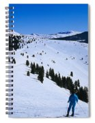 High Angle View Of Skiers Skiing, Vail Spiral Notebook