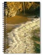 High Angle View Of Waterfall Spiral Notebook