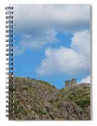 High As The Sky - Blue Sky - Cliffs Spiral Notebook