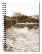 High Falls On The Genesee River Rochester New York At Flood Stage Circa 1904 Spiral Notebook