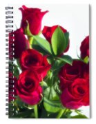 High Key Red Roses Spiral Notebook