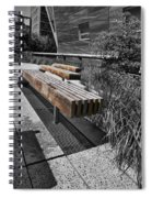 High Line Benches Black And White Spiral Notebook