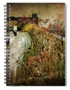 High Line Park In The Rain New York Spiral Notebook