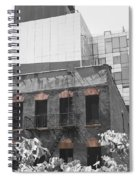 High Line View Of Architecture Black And White Spiral Notebook