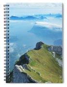 High On Nature At Mt. Pilatus Spiral Notebook