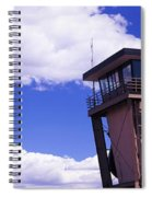 High Section View Of Railroad Tower Spiral Notebook