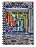 High Street Arcade Cardiff Spiral Notebook