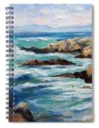 High Surf Asilomar Beach Spiral Notebook