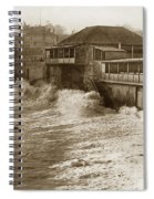 High Tide And Big Waves At Lovers Point Beach Pacific Grove California Circa 1907 Spiral Notebook