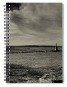 High Tide Of The Confederacy Black And White Spiral Notebook