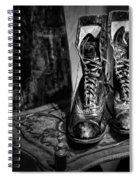 High Top Shoes - Bw Spiral Notebook