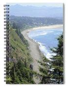 High View Of Oregon Coast Spiral Notebook