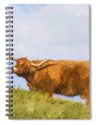 Highland Cow Watercolour Spiral Notebook