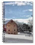 Highland Farms In The Snow Spiral Notebook