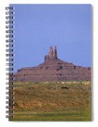 Highway 163 Leading Into Monument Valley With Rock Formations In Spiral Notebook