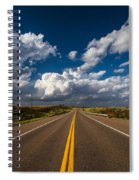 Highway Life - Blue Sky Down The Road In Oklahoma Spiral Notebook