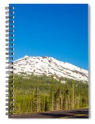 Highway Passing By Mountain Spiral Notebook