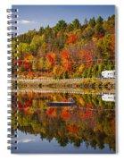 Highway Through Fall Forest Spiral Notebook