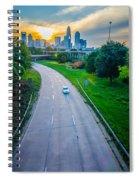 Highway Traffic Near A Big City Spiral Notebook