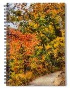 Hiking In Autumn Spiral Notebook