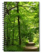 Hiking Trails To Mont Morency Falls Spiral Notebook