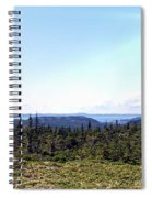 Hill View - Summer - Berry Picking Barrens Spiral Notebook