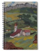 Hilltop Village Switzerland Spiral Notebook