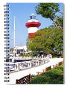 Hilton Head Lighthouse And Marina 2 Spiral Notebook