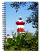Hilton Head Lighthouse And Palmetto Spiral Notebook