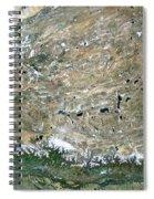 Himalaya Mountains Asia True Colour Satellite Image  Spiral Notebook
