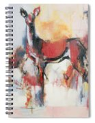 Hinds In Winter Spiral Notebook