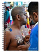 Hindu Devotees Prepare For Thaipusam Festival Singapore Spiral Notebook