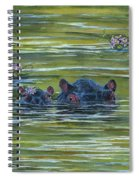Hippos And Hyacinths Spiral Notebook