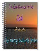 His Mercy Endures Forever Spiral Notebook