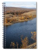 Historic Alaska Gold Dredge In Fall Spiral Notebook