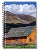 Historic Barn - Wasatch Front Spiral Notebook
