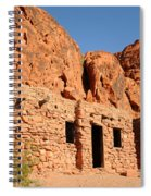 Historic Civilian Conservation Corps Stone Cabins In The Valley Of Fire Spiral Notebook